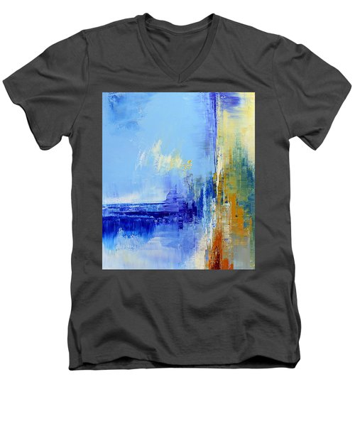 Out Of The Blue Men's V-Neck T-Shirt by Tatiana Iliina