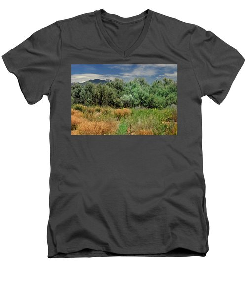 Out On The Mesa 1 Men's V-Neck T-Shirt