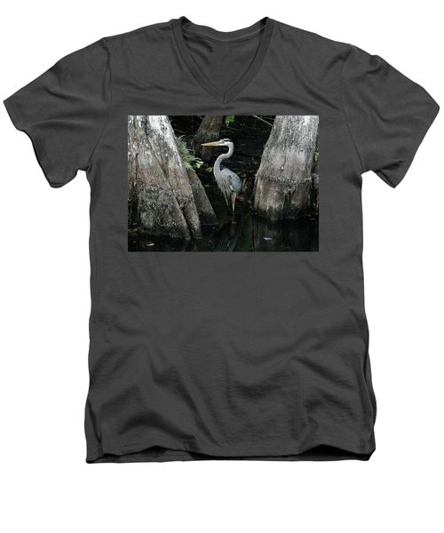 Out Standing In The Swamp Men's V-Neck T-Shirt by Lamarre Labadie