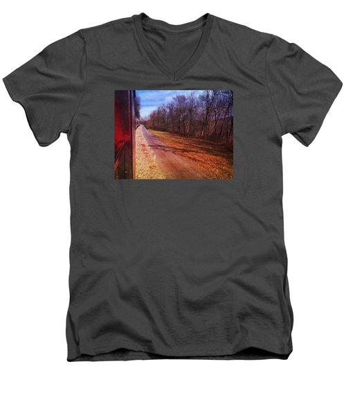 Out The Window Men's V-Neck T-Shirt