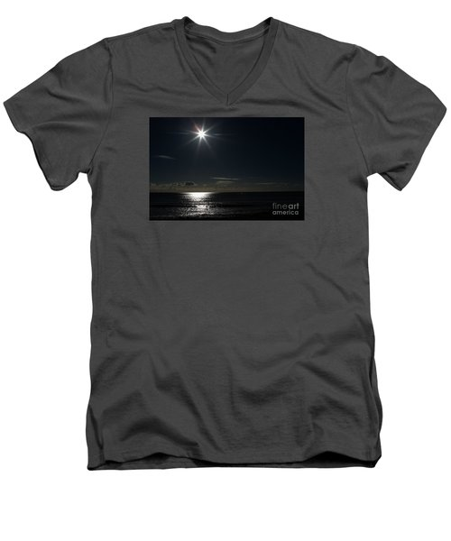 Men's V-Neck T-Shirt featuring the photograph Out To Sea  by Gary Bridger