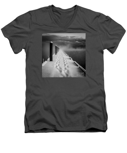 Out To The End Men's V-Neck T-Shirt by Mitch Shindelbower