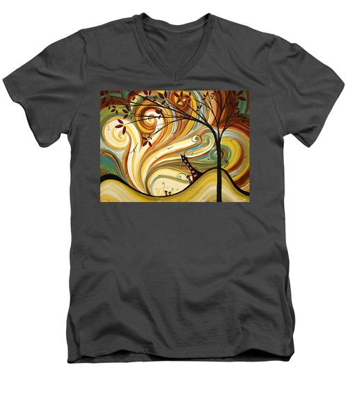 Out West Original Madart Painting Men's V-Neck T-Shirt