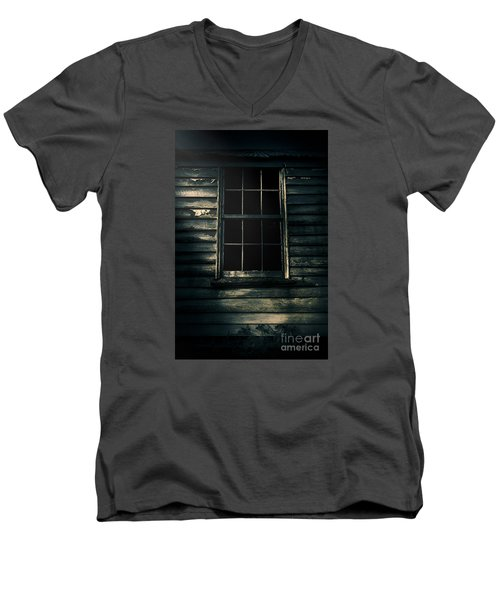 Men's V-Neck T-Shirt featuring the photograph Outback House Of Horrors by Jorgo Photography - Wall Art Gallery