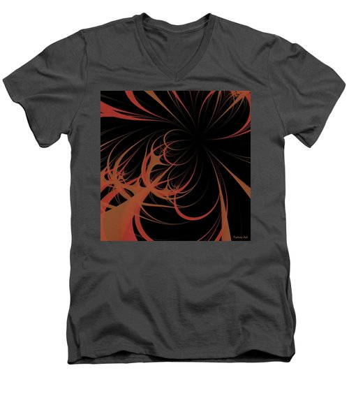 Men's V-Neck T-Shirt featuring the digital art Outbreak by Dragica  Micki Fortuna