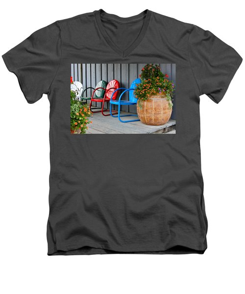 Outdoor Living Men's V-Neck T-Shirt by Karon Melillo DeVega
