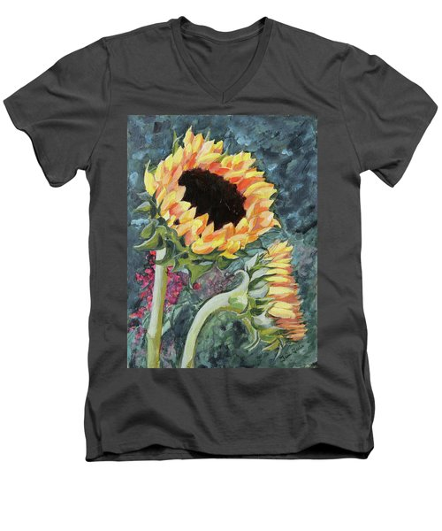 Outdoor Sunflowers Men's V-Neck T-Shirt