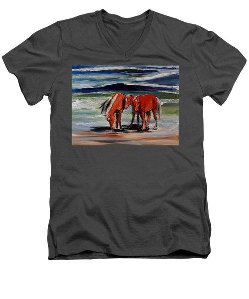 Outer Banks Wild Horses Men's V-Neck T-Shirt