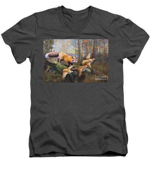 Outfoxed Men's V-Neck T-Shirt