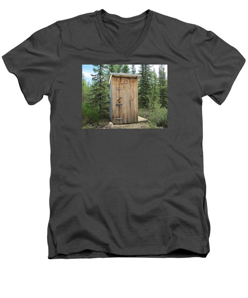 Outhouse  Men's V-Neck T-Shirt by Lucinda VanVleck