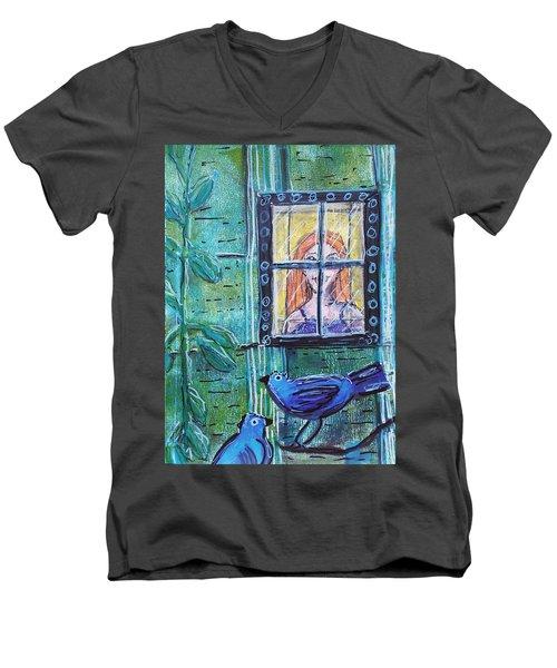 Outside My Window Men's V-Neck T-Shirt