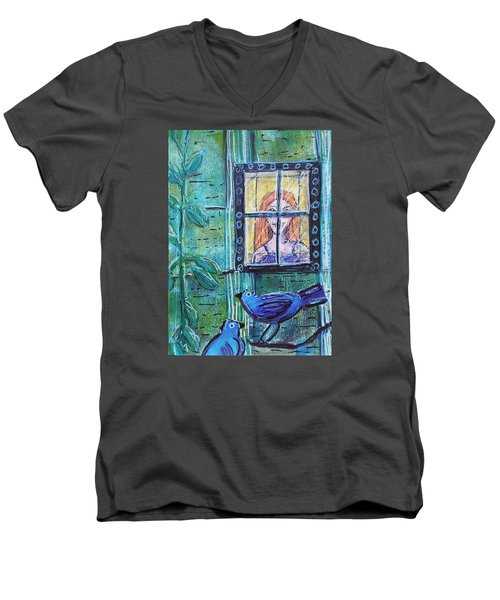 Outside My Window Men's V-Neck T-Shirt