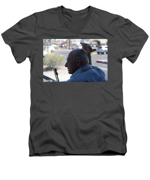 Outside The Cafe Men's V-Neck T-Shirt