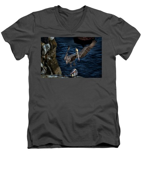 Outstretched Wings Men's V-Neck T-Shirt by James David Phenicie