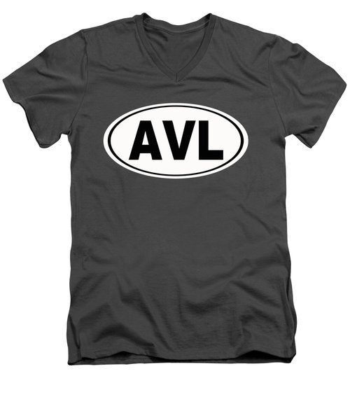 Men's V-Neck T-Shirt featuring the photograph Oval Avl Asheville North Carolina Home Pride by Keith Webber Jr