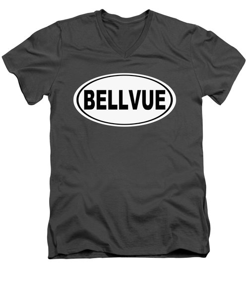 Men's V-Neck T-Shirt featuring the photograph Oval Bellvue Colorado Home Pride by Keith Webber Jr