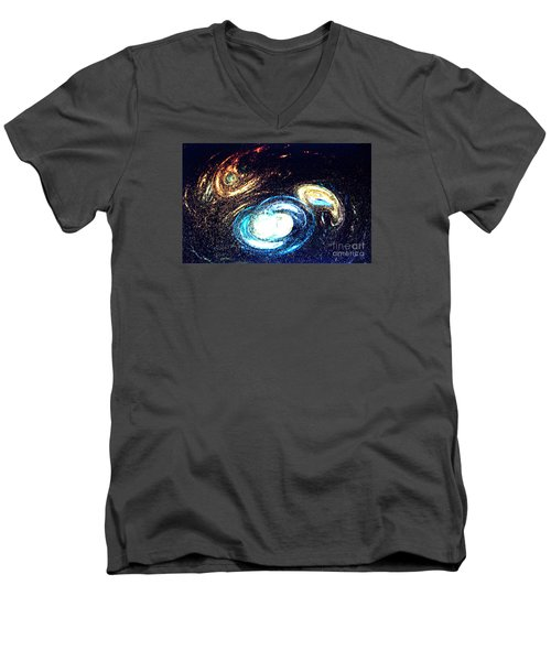Men's V-Neck T-Shirt featuring the photograph Oval Dream - Modern Art by Merton Allen