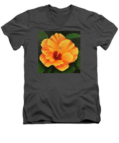 Over-achiever Men's V-Neck T-Shirt by Donna Manaraze
