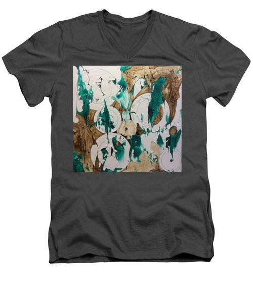 Over And Under Men's V-Neck T-Shirt by Pat Purdy