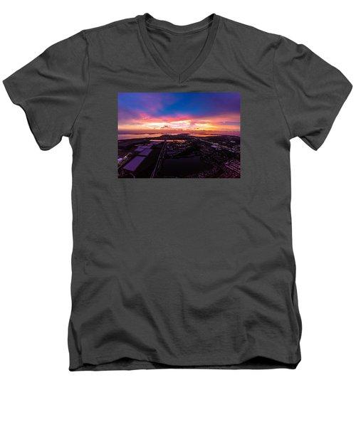 Over Bradenton Men's V-Neck T-Shirt