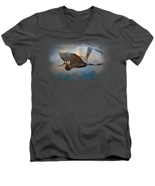 Over Ocean Skies Men's V-Neck T-Shirt by Jai Johnson