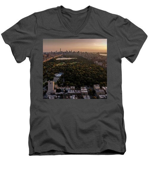 Over The City Central Park Men's V-Neck T-Shirt