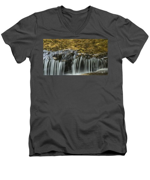 Men's V-Neck T-Shirt featuring the photograph Over The Edge by Alana Ranney