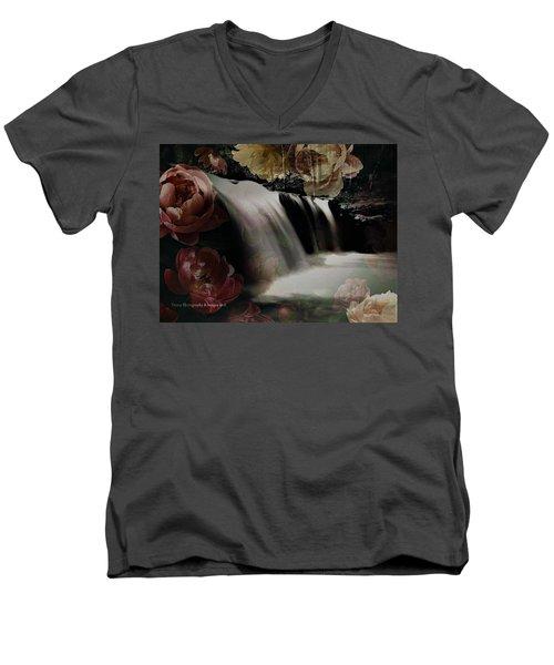 Over The Falls Men's V-Neck T-Shirt