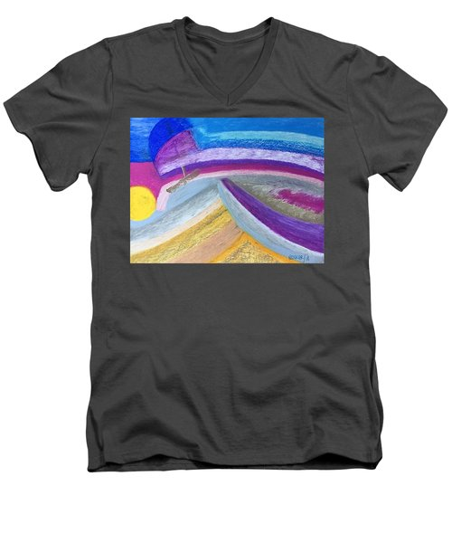 Over The Waves Men's V-Neck T-Shirt