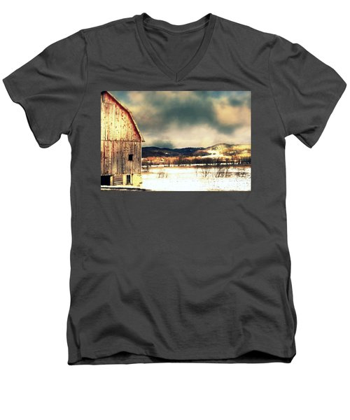 Men's V-Neck T-Shirt featuring the photograph Over Yonder by Julie Hamilton