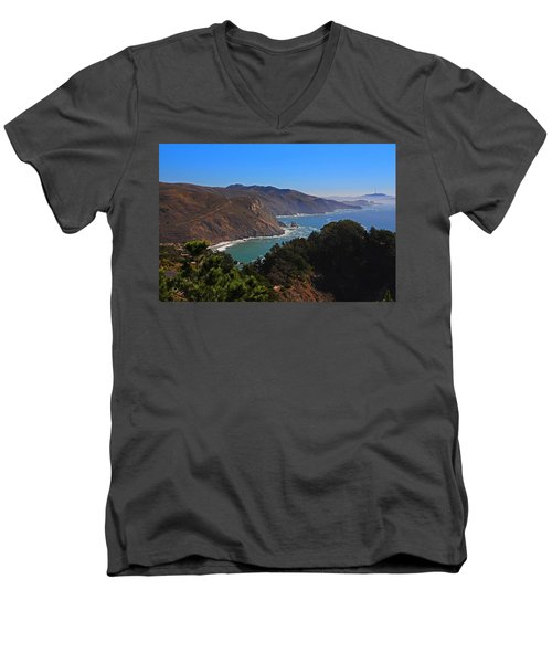 Overlooking Marin Headlands Men's V-Neck T-Shirt