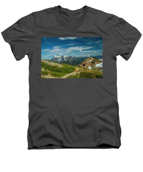 Overlooking Shuksan Men's V-Neck T-Shirt