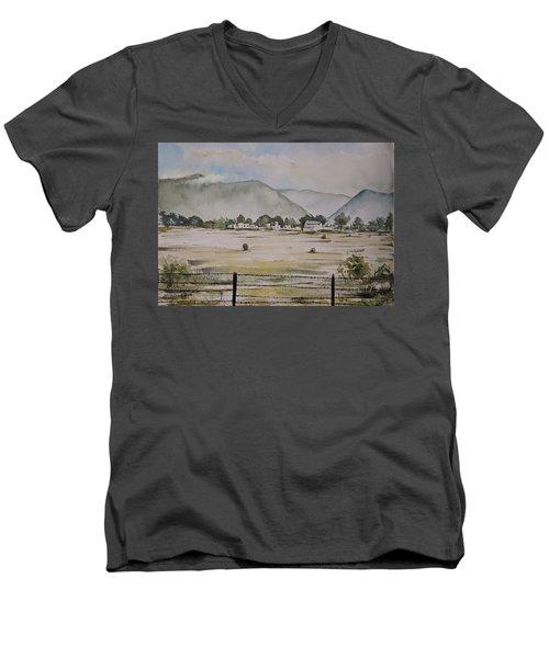 Overlooking The Hills Men's V-Neck T-Shirt