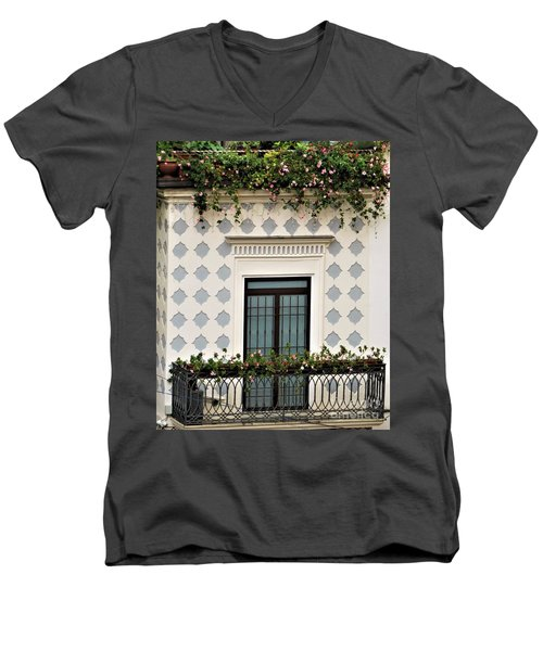 Overlooking The Piazza Men's V-Neck T-Shirt