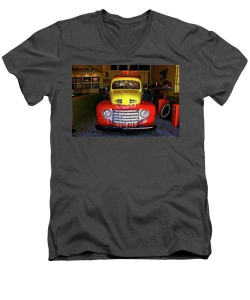 Overpainted 1950 Ford Pickup Men's V-Neck T-Shirt