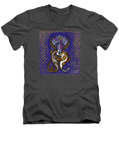 Owl And Pussycat Married Men's V-Neck T-Shirt