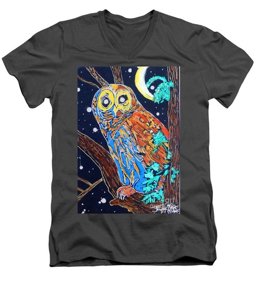 Owl Light Men's V-Neck T-Shirt