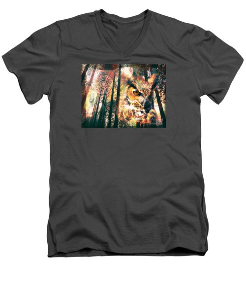 Owl Medicine 2015 Men's V-Neck T-Shirt