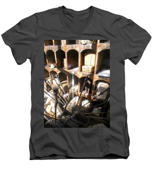 Men's V-Neck T-Shirt featuring the photograph Owl Post Office Hogsmeade by Juergen Weiss