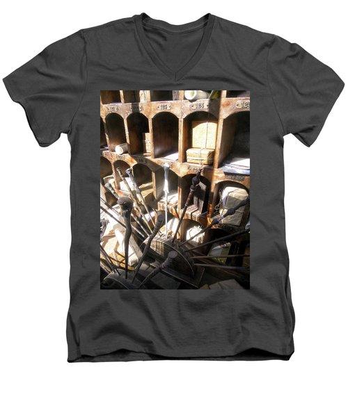 Men's V-Neck T-Shirt featuring the photograph Owl Post Office Hogsmeade by Juergen Weiss