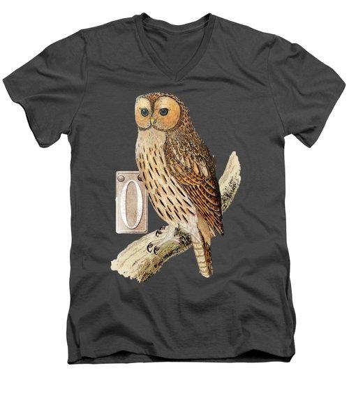 Owl T Shirt Design Men's V-Neck T-Shirt by Bellesouth Studio