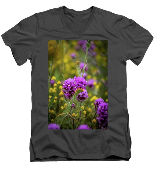 Men's V-Neck T-Shirt featuring the photograph Owl's Clover by Peter Tellone
