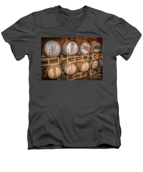 Owl's Eye Winery Men's V-Neck T-Shirt by Marion Johnson