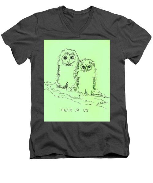 Owlz R Us Men's V-Neck T-Shirt