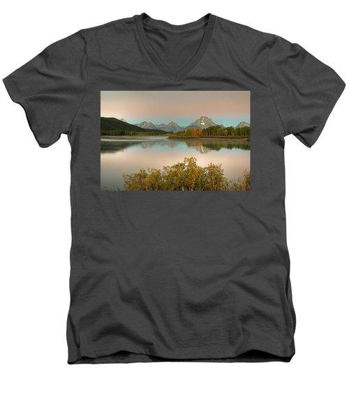 Oxbow Bend Men's V-Neck T-Shirt