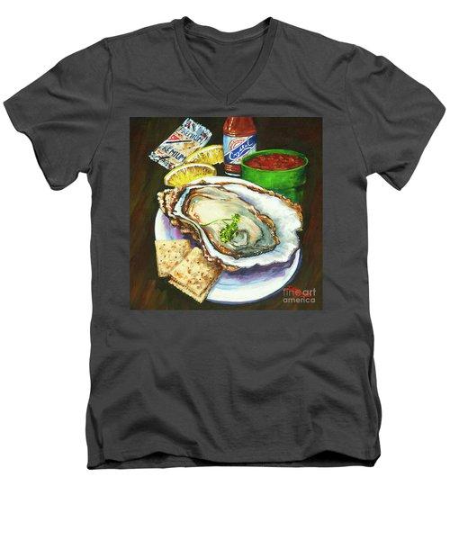 Oyster And Crystal Men's V-Neck T-Shirt