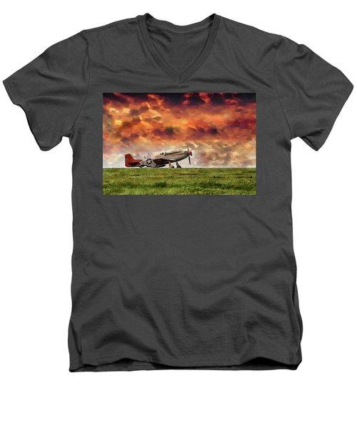 P51 Warbird Men's V-Neck T-Shirt