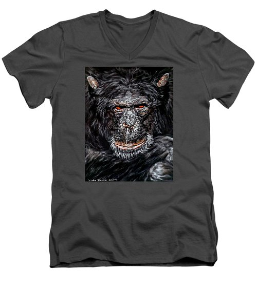 Pablo Men's V-Neck T-Shirt by Linda Becker