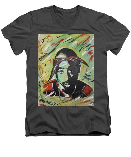 Pac Mentality Men's V-Neck T-Shirt