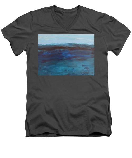 Pacific Blue Men's V-Neck T-Shirt
